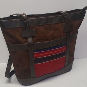 Bolivian leather tote